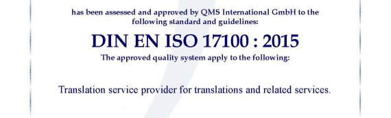 ISO certification? And how!